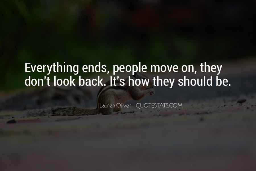 Quotes About Life Don't Look Back #1690384