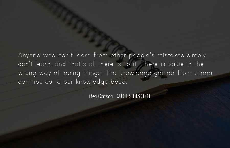 Quotes About Mistakes And Errors #1090422