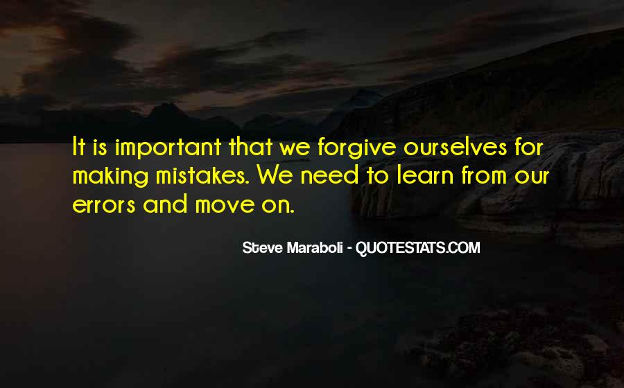 Quotes About Mistakes And Errors #1118789