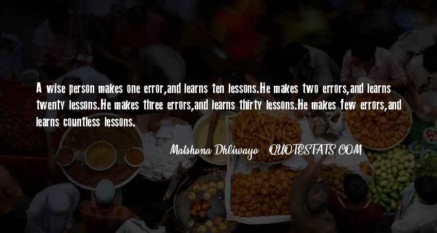 Quotes About Mistakes And Errors #566538