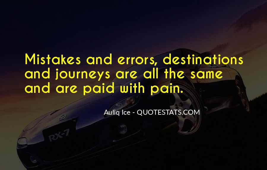 Quotes About Mistakes And Errors #771663