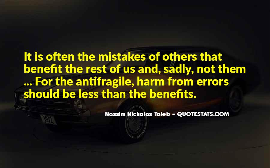 Quotes About Mistakes And Errors #802675