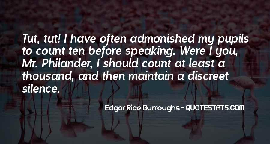 Quotes About Speaking And Silence #1741047