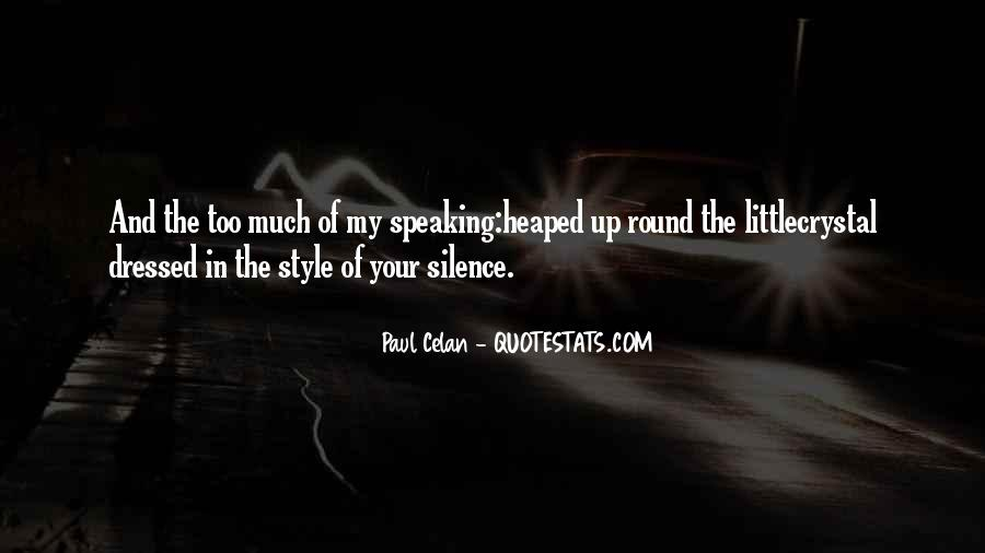Quotes About Speaking And Silence #1767821