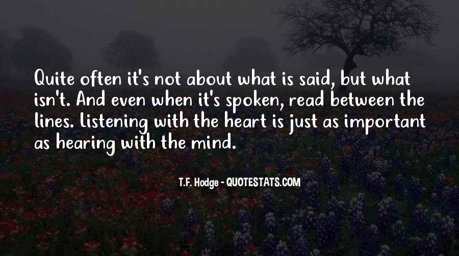 Quotes About Speaking And Silence #603143
