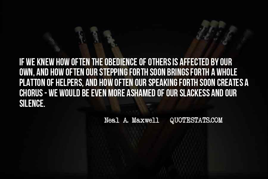 Quotes About Speaking And Silence #831409