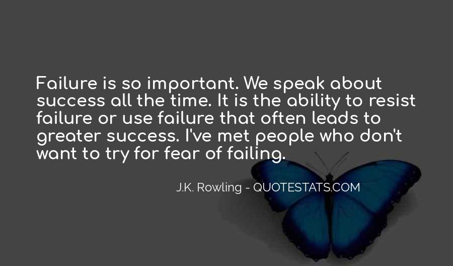 Quotes About How Failure Leads To Success #1471069