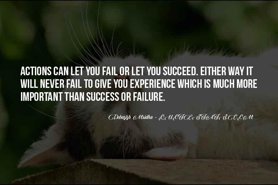 Quotes About How Failure Leads To Success #386619