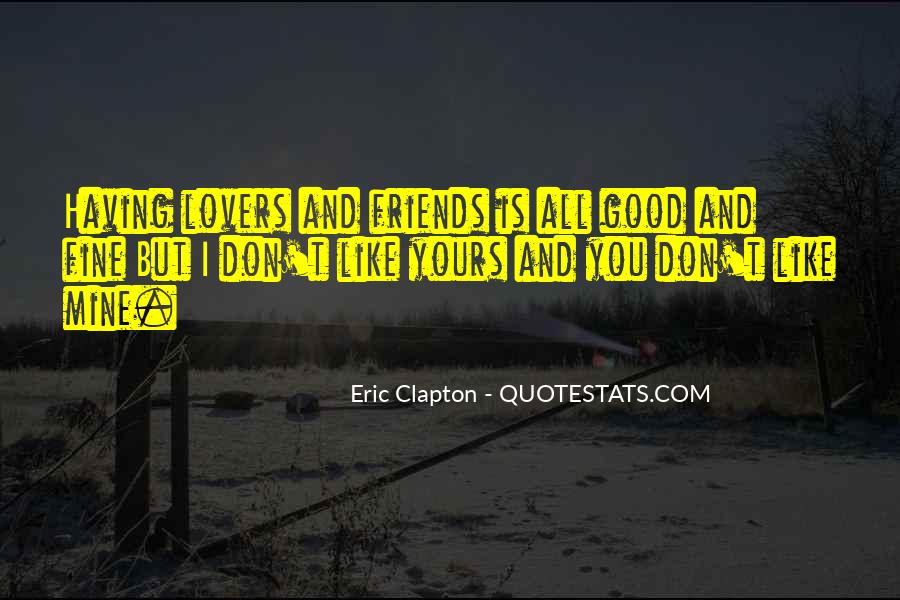 Quotes About Lovers To Friends #117120