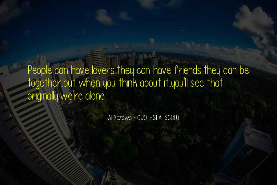 Quotes About Lovers To Friends #29494