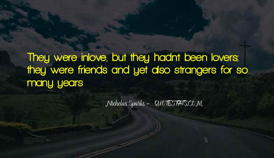 Quotes About Lovers To Friends #44192