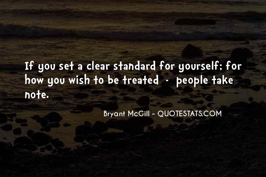 Quotes About Setting Standards For Yourself #1246645