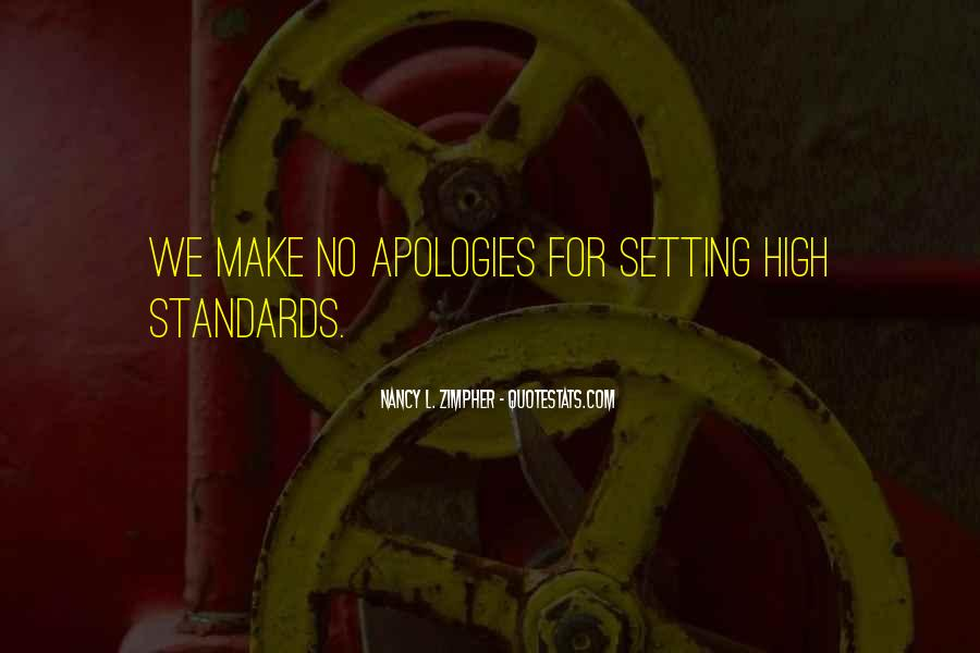 Quotes About Setting Standards For Yourself #209448