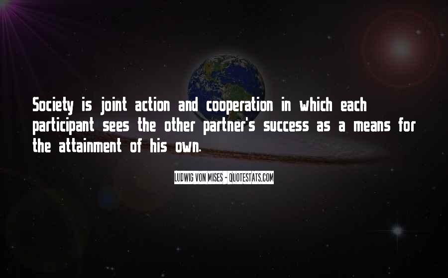 Quotes About Cooperation And Success #19213