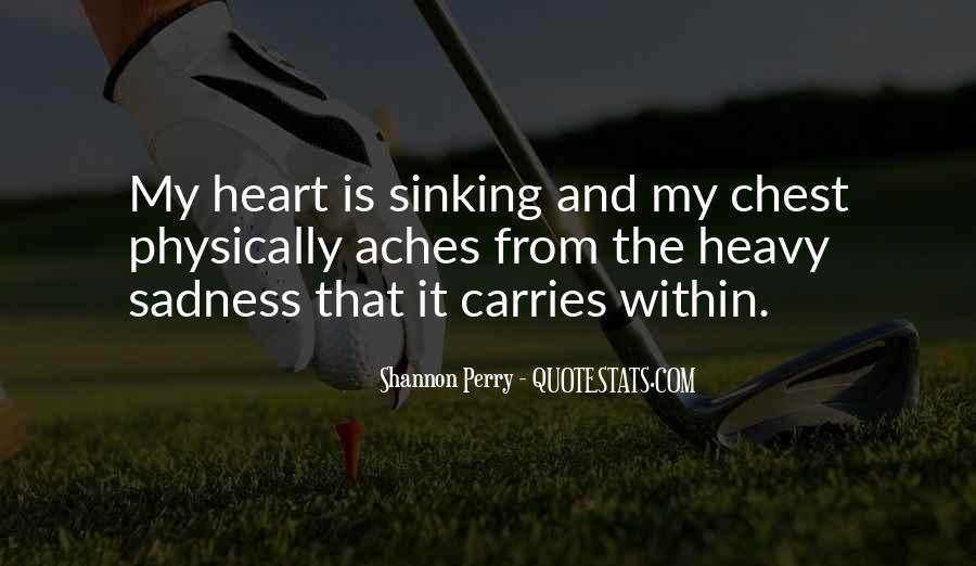 Quotes About Your Heart Sinking #678845