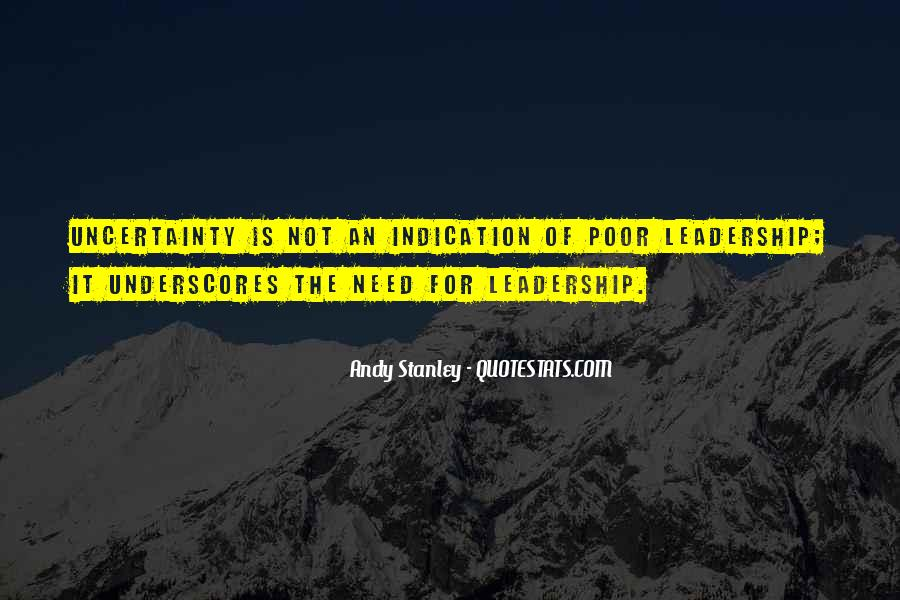 Quotes About Poor Leadership #216573