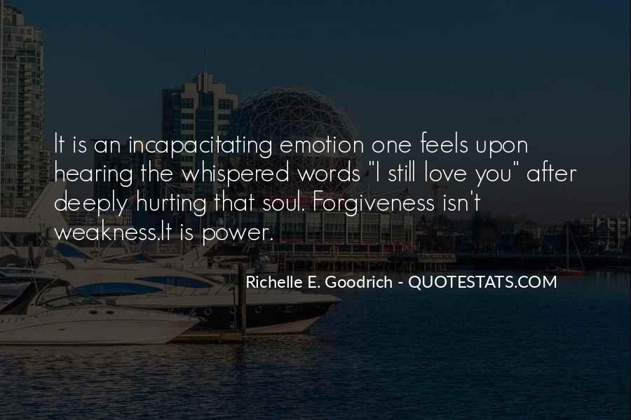 Quotes About Hurting The One You Love #274955