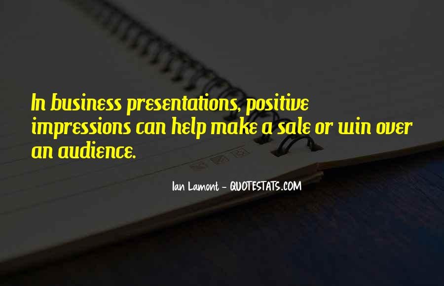 Quotes About Sales Presentations #1142589