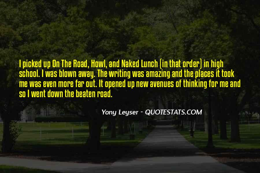 Quotes About Avenues #160131