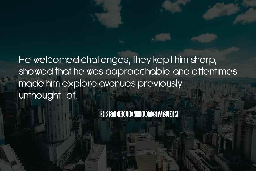 Quotes About Avenues #177632