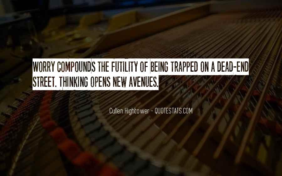 Quotes About Avenues #375040