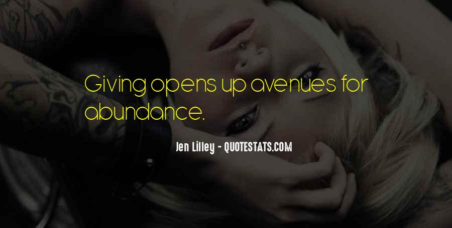 Quotes About Avenues #700221