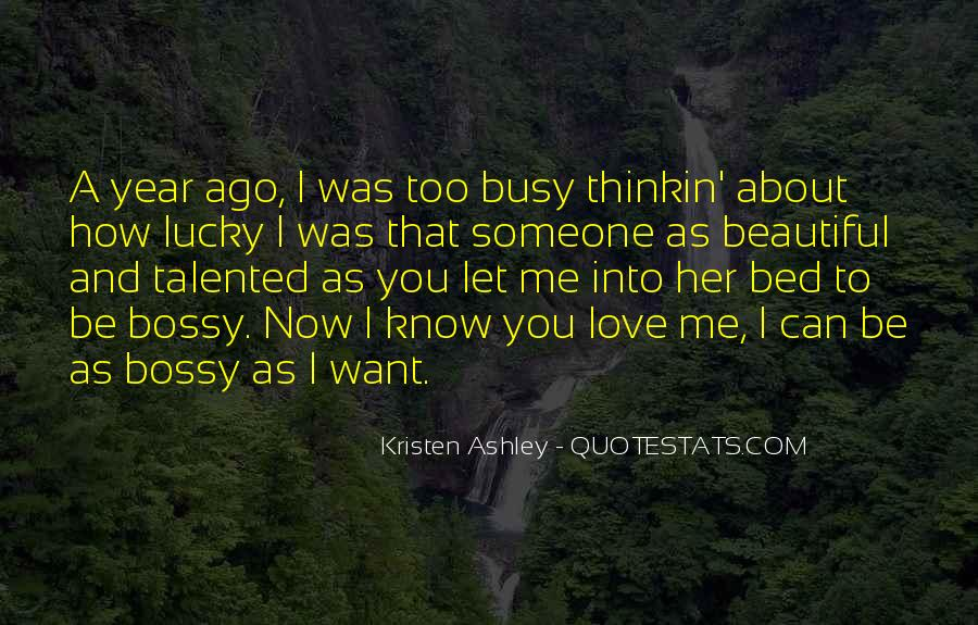 Quotes About Lucky You #119110
