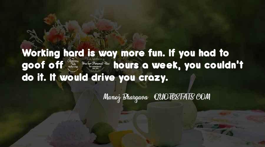 Quotes About Fun And Working Hard #99615