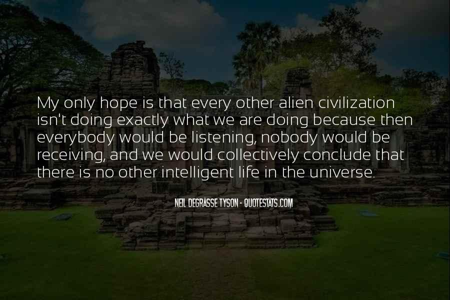 Quotes About Listening To The Universe #399423
