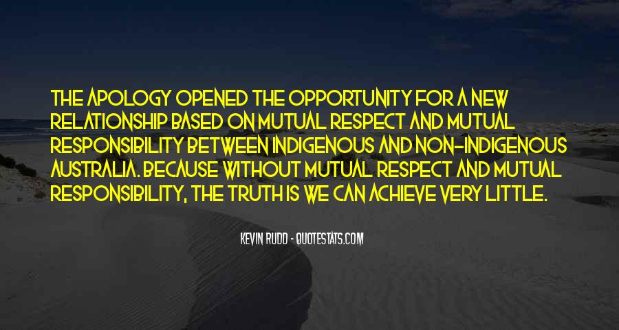 Quotes About Respect And Responsibility #1099072