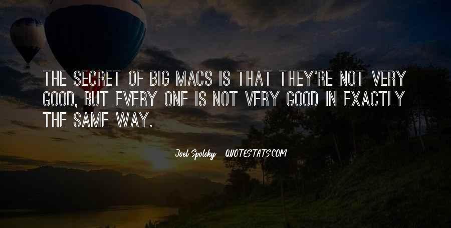 Quotes About Big Macs #1191912