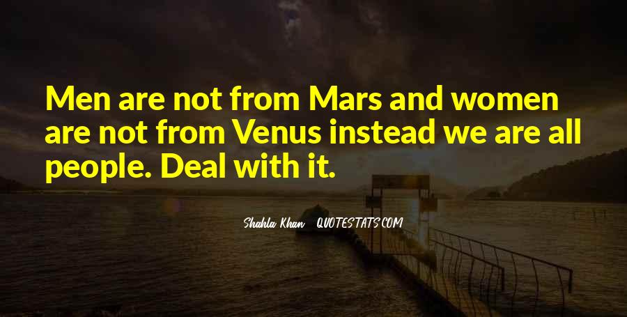 Quotes About Mars And Venus #39595