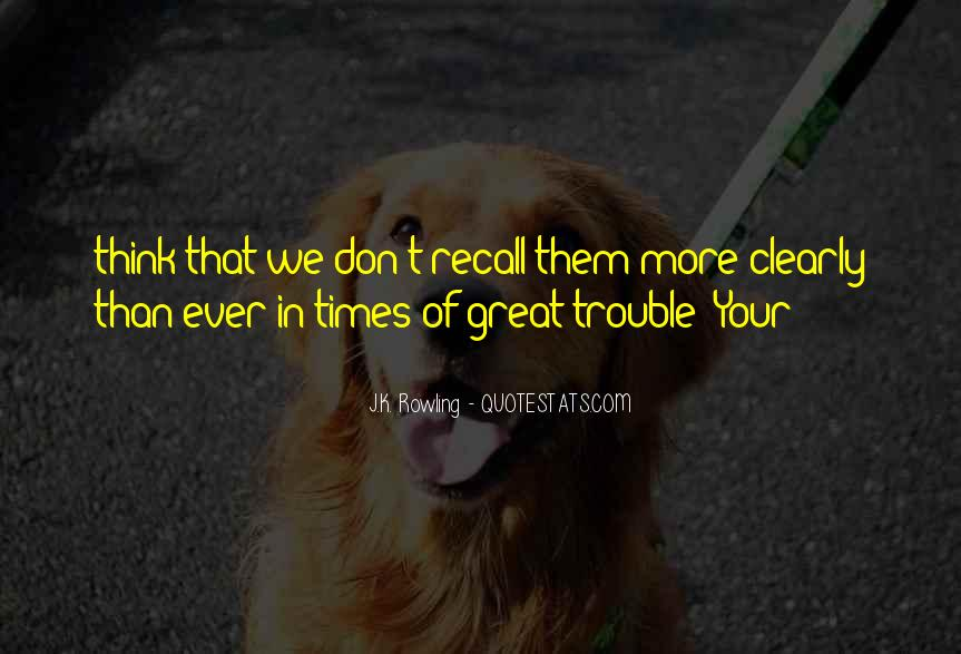 Quotes About Trouble Times #604379