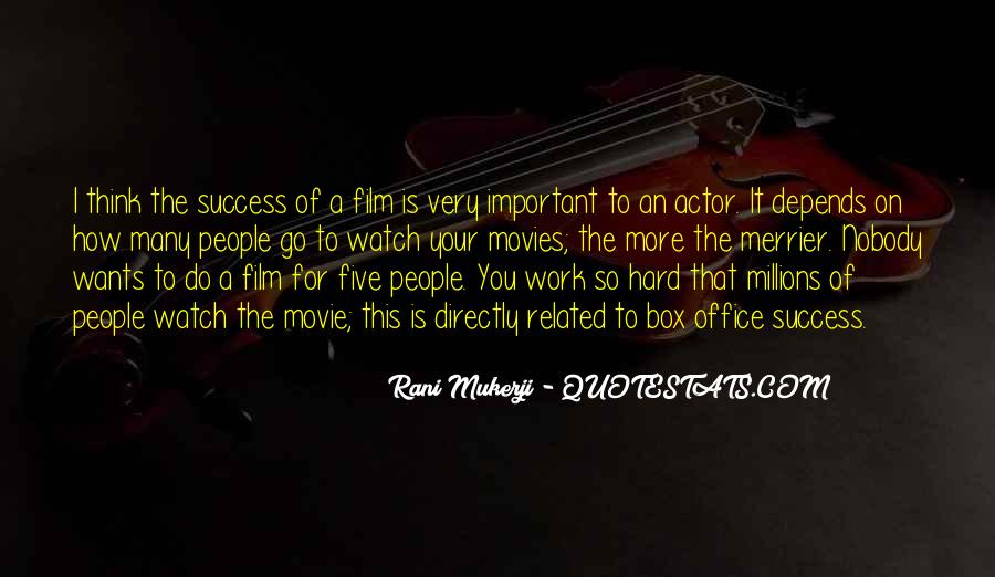 Quotes About Success From Movies #1295356