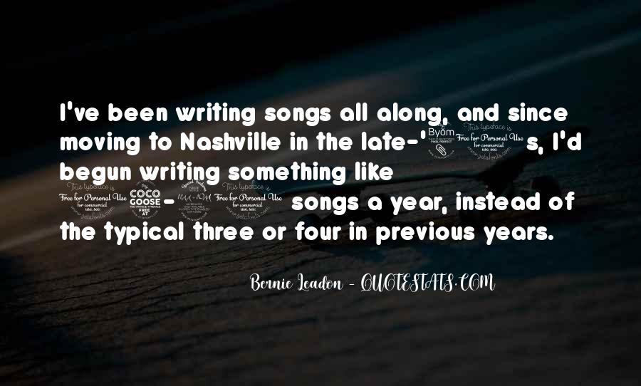 Quotes About Moving To Nashville #62626