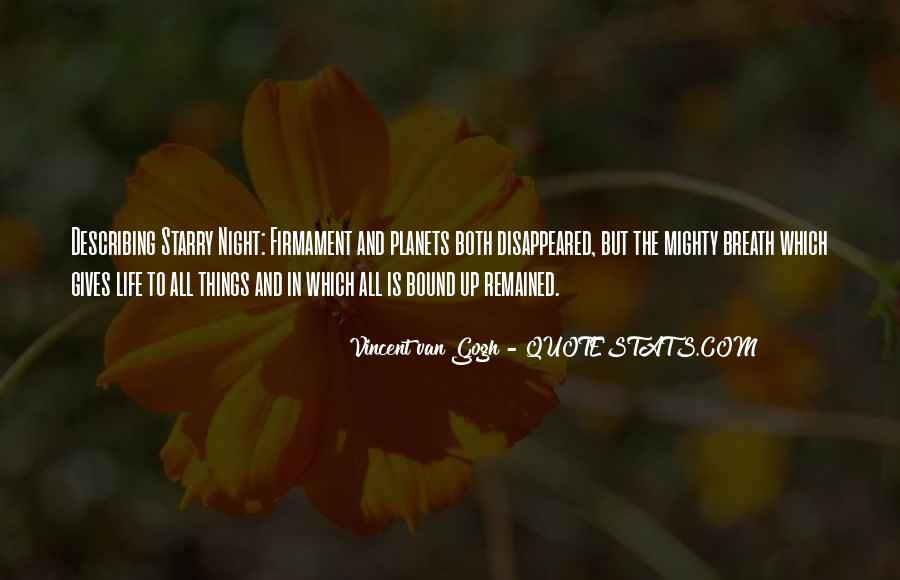 Quotes About Van Gogh's Starry Night #1583900