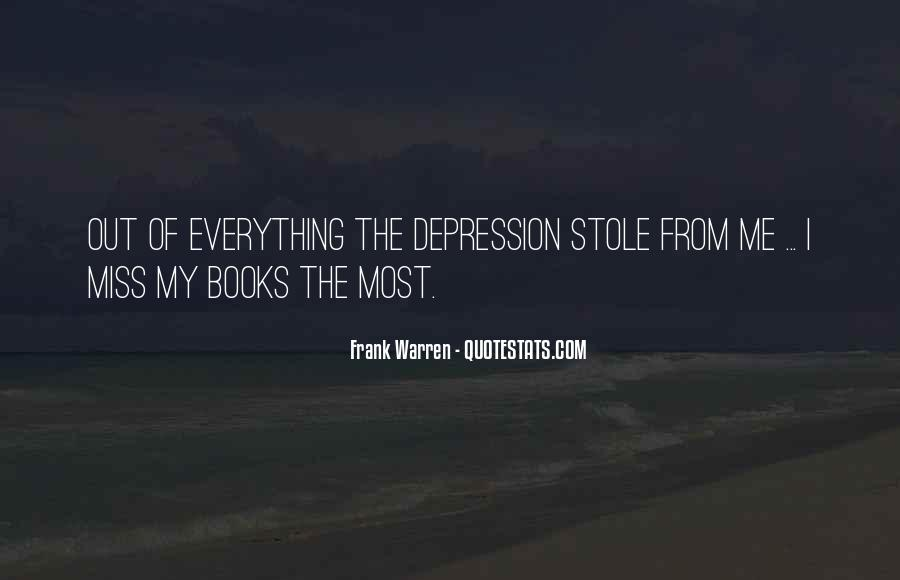 Quotes About Depression From Books #153386