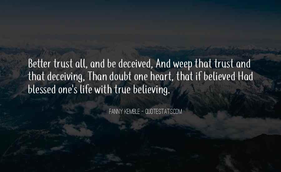 Quotes About Doubt And Trust #521548