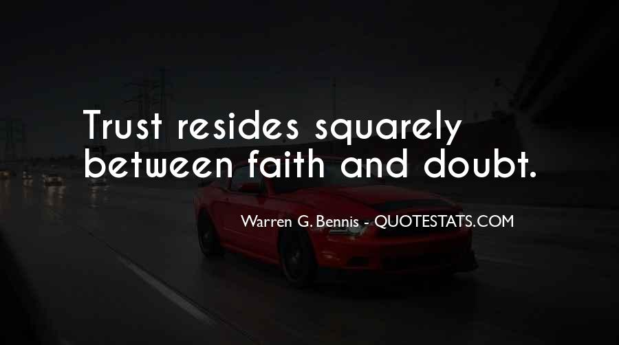 Quotes About Doubt And Trust #665560