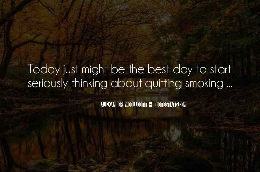 Quotes About Smoking Being Bad #128888