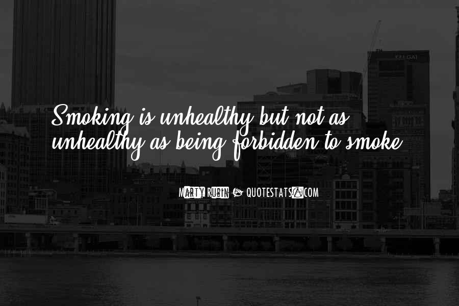 Quotes About Smoking Being Bad #153302