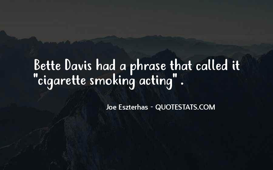 Quotes About Smoking Being Bad #15548