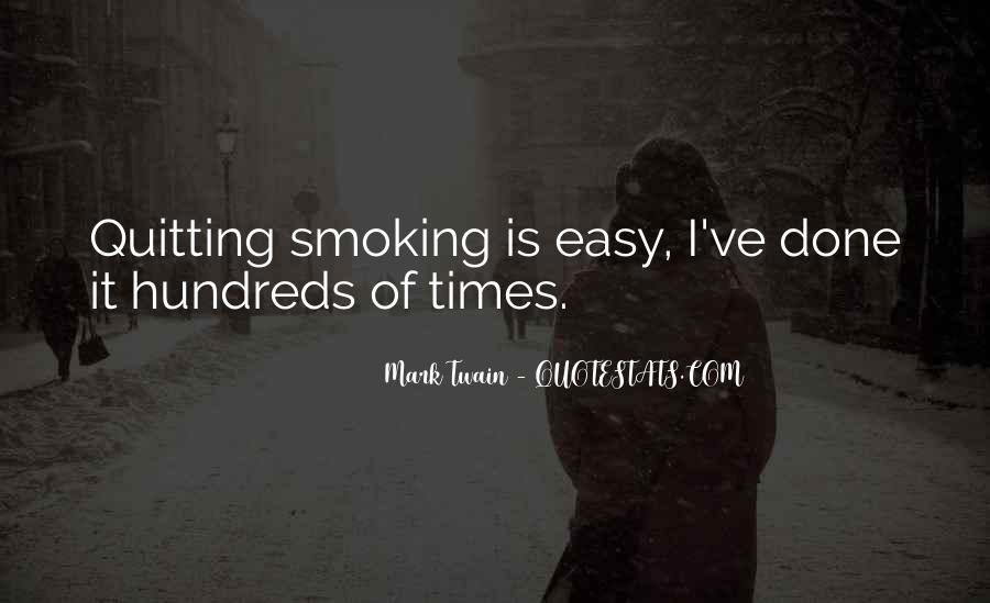 Quotes About Smoking Being Bad #163784