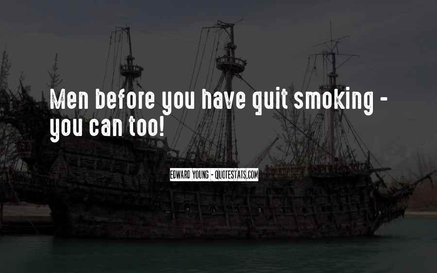 Quotes About Smoking Being Bad #40540