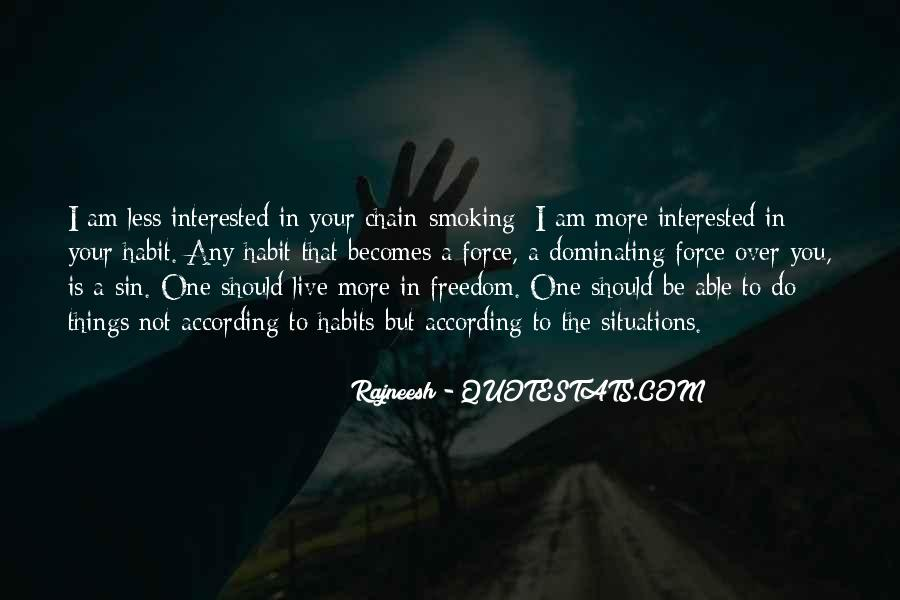 Quotes About Smoking Being Bad #76268