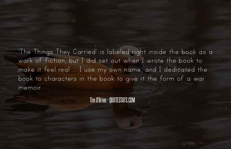 Quotes About The Book The Things They Carried #150557
