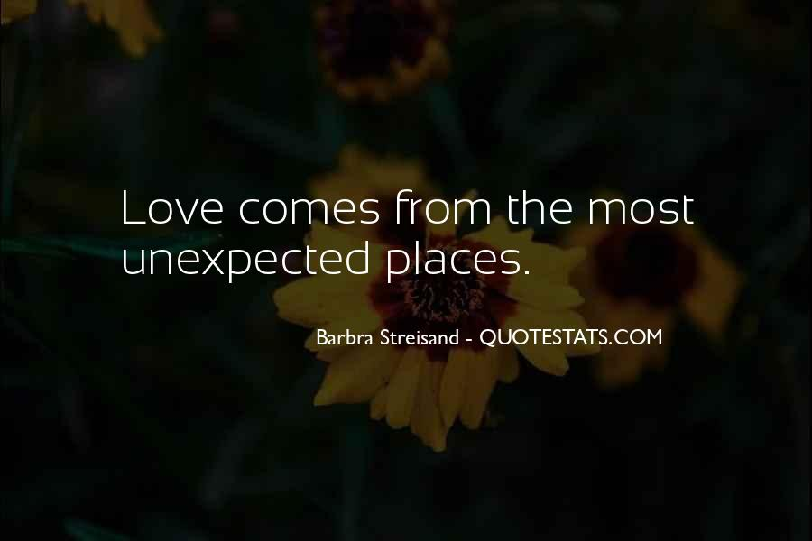 Quotes About Love Unexpected #1499712