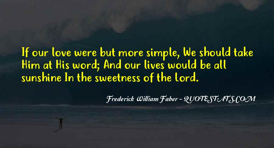 Quotes About Sweetness Of Love #1441960