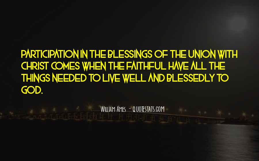 Quotes About The Blessings Of God #191192