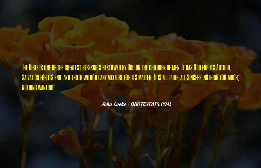 Quotes About The Blessings Of God #37420
